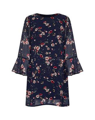 Yumi Curves Daisy Print Tunic Dress