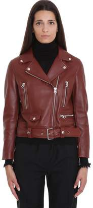 Acne Studios Mock Leather Jacket In Leather Color Leather