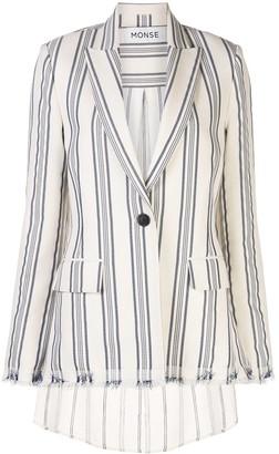 Monse Stripe Shirt Back Blazer