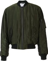 Haider Ackermann zipped arm bomber jacket
