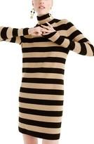 J.Crew Petite Women's Stripe Turtleneck Sweater Dress