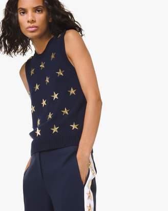 Michael Kors Star-Embellished Cashmere Tank
