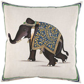 "John Robshaw Elephant Pillow, 20""Sq."