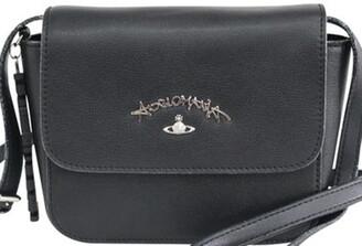 Vivienne Westwood Black Leather Crossbody Bag