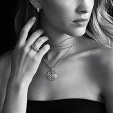 David Yurman Labyrinth Single-Loop Earrings with Diamonds in Gold