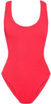 HUNZA G Seersucker Swimsuit - Bright pink