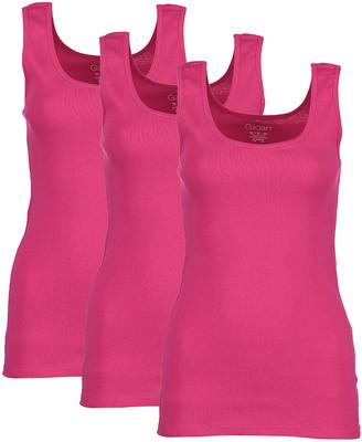 Gildan Women's Tank Tops Hot - Hot Pink Ribbed Tank Set - Women