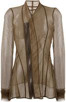 Rick Owens Lilies mesh long sleeved jacket - women - Polyamide/Spandex/Elastane - 42