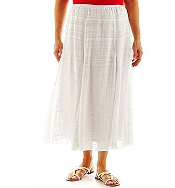 JCPenney Lark Lane® Long Gored Gauze Skirt