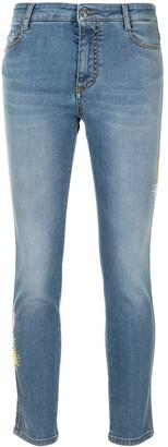 Ermanno Scervino Contrast-Stitch Slim Jeans