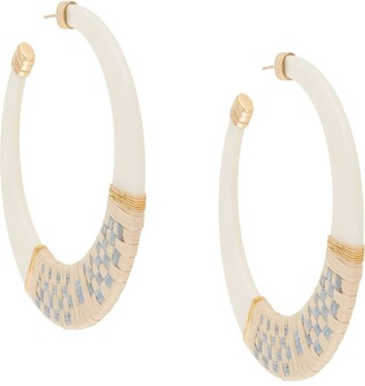 Gas Bijoux Lodge raffia hoop earrings