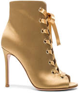 Gianvito Rossi Satin Marie Lace Up Booties