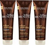 John Frieda Brilliant Brunette Colour Protecting Moisturising Shampoo, 8.45 Ounce (Pack of 3)