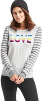 Gap Love intarsia crewneck sweater