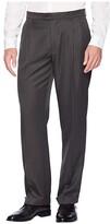 Perry Ellis Portfolio Double Pleated Classic Fit Performance Dress Pants (Castlerock) Men's Dress Pants