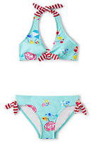 Lands' End Little Girls Bikini Swimsuit Set-Dark Latigo Blue Stripe