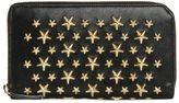 Jimmy Choo Stars Studs Leather Zip Around Wallet