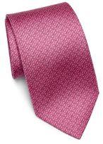 Salvatore Ferragamo Gancini Patterned Silk Tie