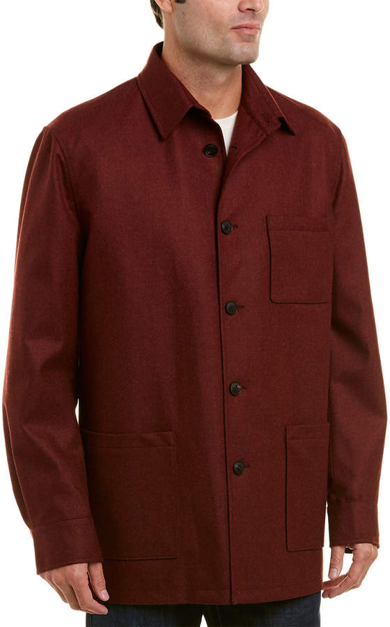 David Donahue Wool & Cashmere Shirt Jacket