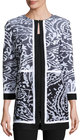 misook patrice 34sleeve jacquard jacket blackwhite