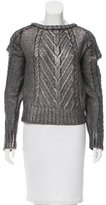 Alberta Ferretti Metallic Wool Sweater