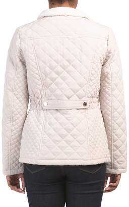 Sherpa Lined Quilted Coat