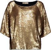 MICHAEL Michael Kors Sequined cotton-blend top