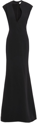 Victoria Beckham Fluted Crepe Gown