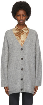 Acne Studios Grey Wool and Mohair Cardigan