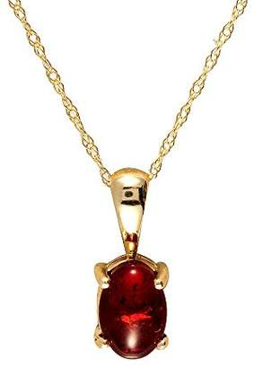 Camilla And Marc Ivy Gems Necklace Yellow Gold 9ct Gold Oval Cuff Setting Amber Pendant with Prince of Wales Necklace 46 cm