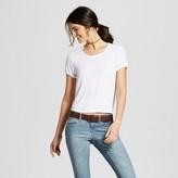 Mossimo Women's Ringer T-Shirt White