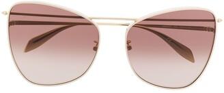 Alexander McQueen Eyewear Cat Eye Frame Sunglasses