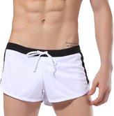 Pishon Men's Running Shorts Quick Dry Drawstring Polyester Gym Jogging Shorts