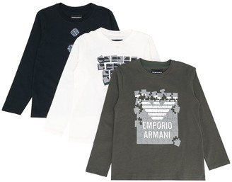 Emporio Armani Kids Long-Sleeve Top Set