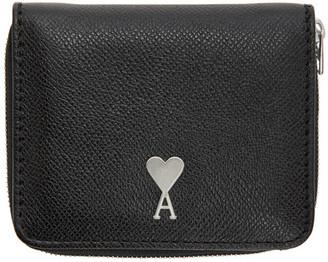 Ami Alexandre Mattiussi Black Ami De Coeur Compact Wallet