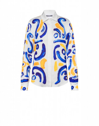 Moschino Majolica Georgette Shirt Woman White Size 42 It - (8 Us)