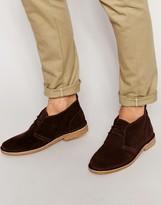 Jack & Jones Gobi Suede Desert Boots - Brown