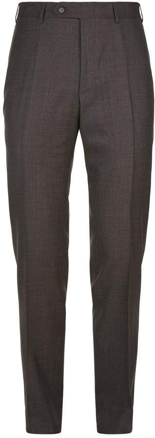 Canali Basketweave Slim Wool Trousers