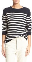 Vince Women's Engineered Stripe Wool Blend Pullover