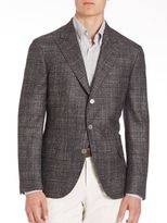Brunello Cucinelli Wool-Blend Peak Lapel Jacket