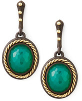 Armenta Midnight Oval Green Onyx Drop Earrings