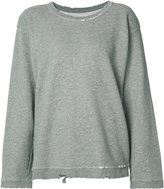 RtA Beal distressed sweatshirt - women - Cotton/Polyester - S