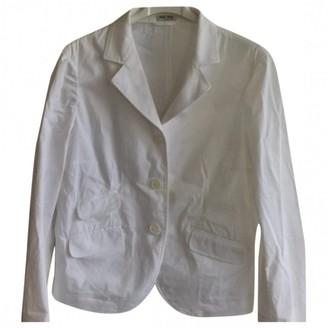 Miu Miu White Cotton Jacket for Women Vintage
