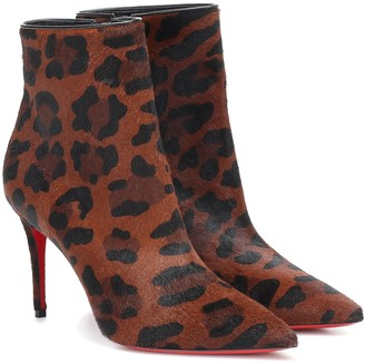 Christian Louboutin So Katy 85 leopard ankle boots