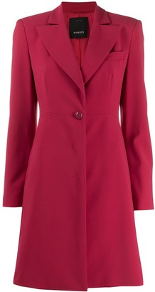 Pinko Single-Breasted Tailored Coat