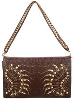 Roberto Cavalli Studded Leather Shoulder Bag w/ Tags
