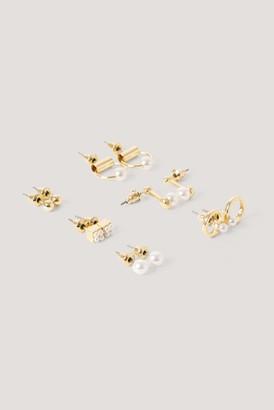 NA-KD Mini Pearl Earrings Set