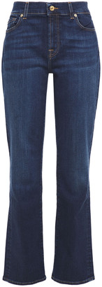 7 For All Mankind The Straight Nyd High-rise Straight-leg Jeans