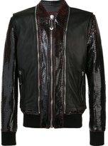 Philipp Plein zip detailed bomber jacket