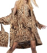 Norma Kamali Women's Double Breasted Trench - Caramel Leopard